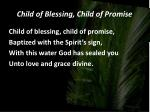 child of blessing child of promise