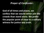 prayer of confessio n