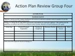 action plan review group four