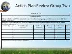 action plan review group two