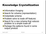 knowledge crystallization