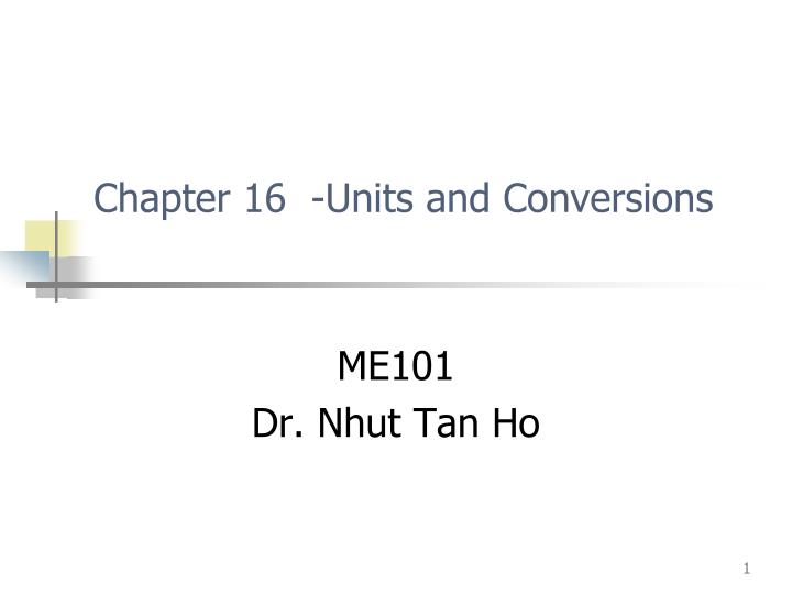 chapter 16 units and conversions n.