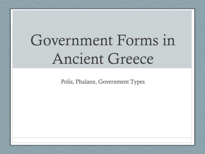 government forms in ancient greece n.