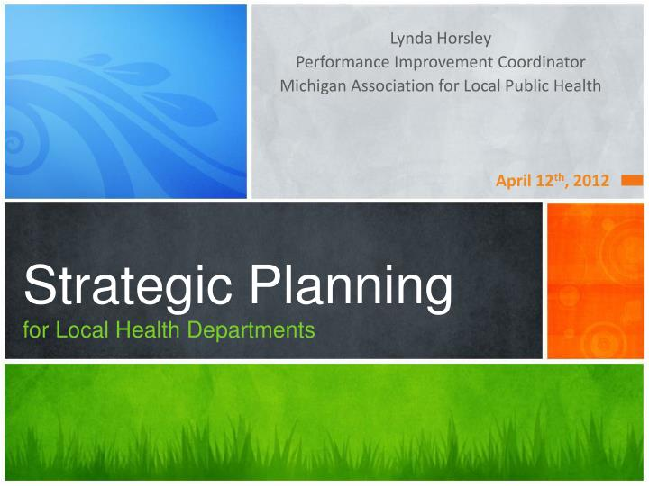 strategic planning for local health departments n.