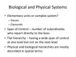 biological and physical systems1