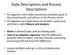 state descriptions and process descriptions1