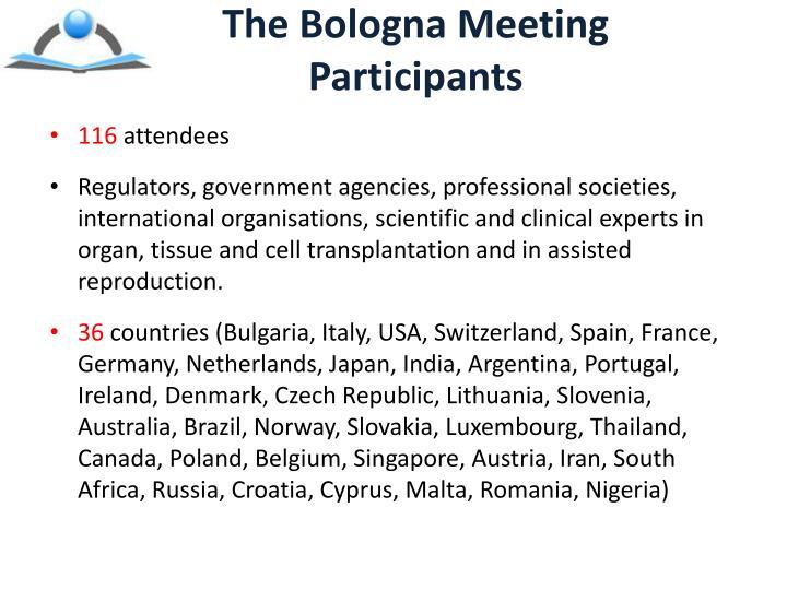 The Bologna Meeting Participants
