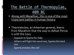 the battle of thermopylae 480 bc