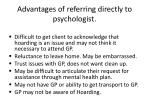 advantages of referring directly to psychologist
