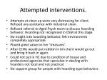 attempted interventions