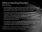 what is hoarding disorder dsm 5 definition