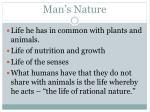 man s nature