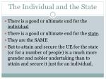 the individual and the state