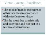 virtue arete excellence