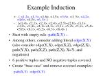 example induction