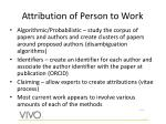 attribution of person to work