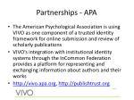 partnerships apa