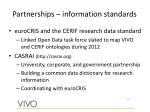 partnerships information standards