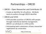 partnerships orcid