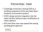 partnerships sakai