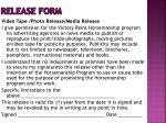 release form