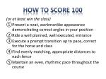 how to score 100