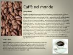 caff nel mondo