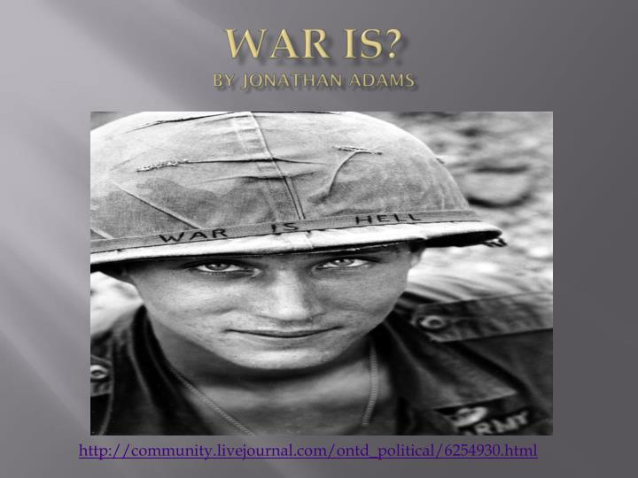 war is by jonathan adams n.