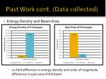 past work cont data collected
