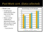 past work cont data collected1