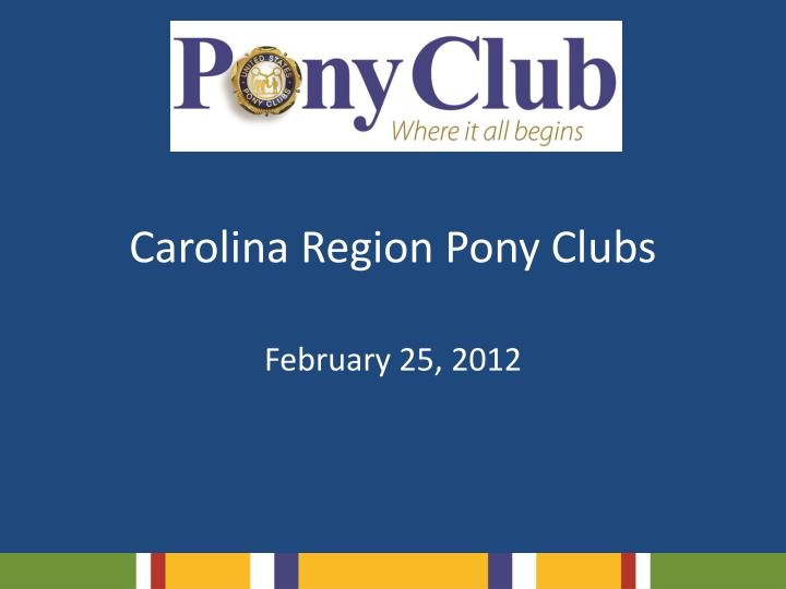 carolina region pony clubs n.