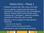 online entry phase 1