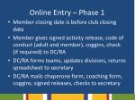 online entry phase 11