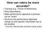 how can raters be more accurate
