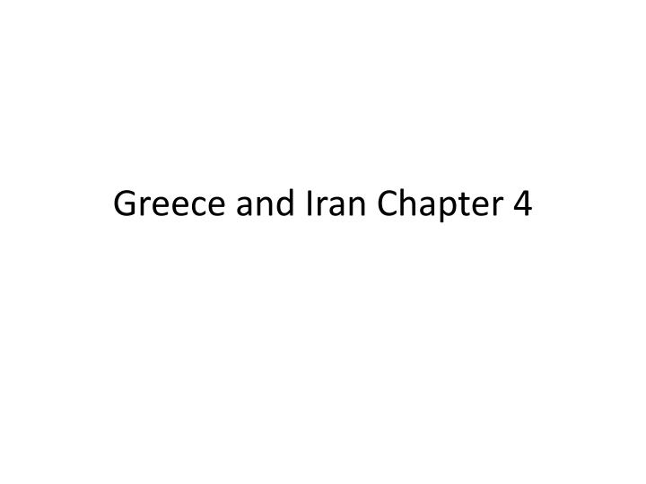 greece and iran chapter 4 n.