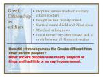 greek citizenship as soldiers