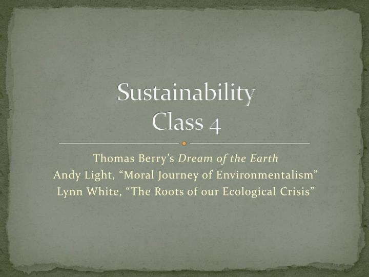 sustainability class 4 n.