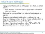 future research from project