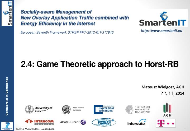 2 4 game theoretic approach to horst rb n.