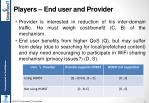 players end user and provider