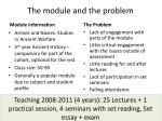 the module and the problem