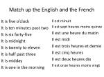 match up the english and the french