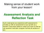 making sense of student work from your lesson
