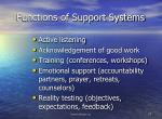 functions of support systems
