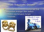 post traumatic growth