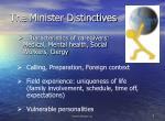 the minister distinctives