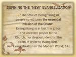 defining the new evangelization