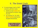 ii the great crash
