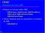 odbc fonctions de core api1