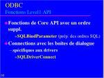 odbc fonctions level1 api
